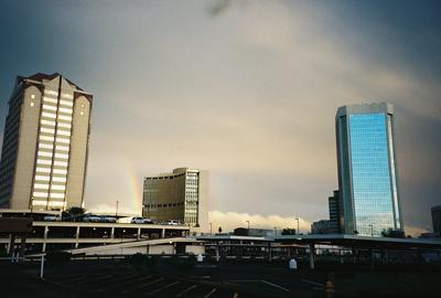 downtown Phoenix rainbowing